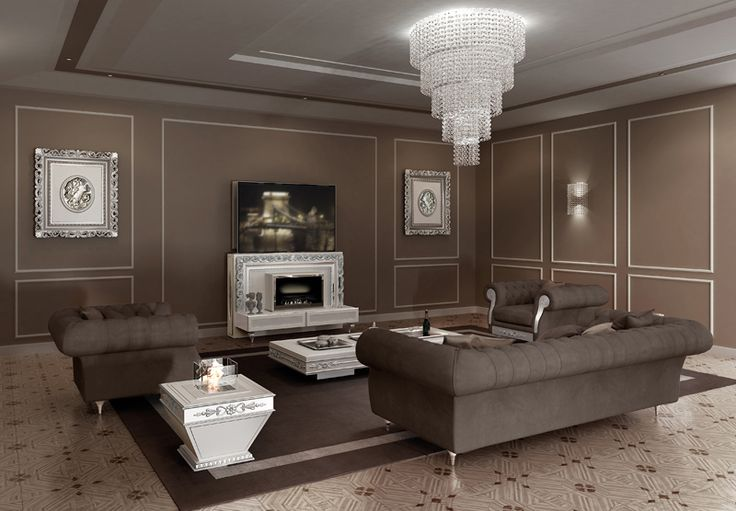 Vismara Design Lift & Fire Tv Stand model is available in Baroque style, giving a touch of elegance and luxury to your living room.