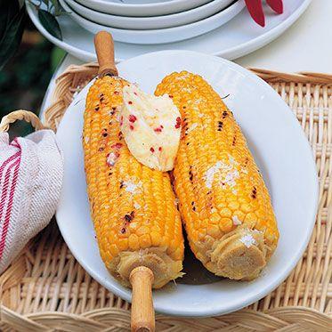 Maiskolben mit Chili-Honig-Butter