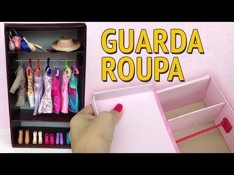 Guarda Roupa e Closet para Barbie feito com Caixa de Sapato! Como fazer! - YouTube