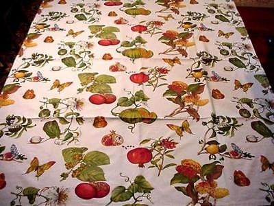 BOTANICAL Harvest THANKSGIVING Large Tablecloth Made In Italy TUSCAN Fall  Colors