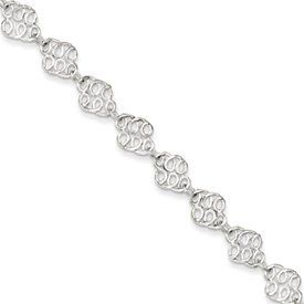 Genuine IceCarats Designer Jewelry Gift Sterling Silver 10Inch Fancy Polished Anklet In 10.00 Inch IceCarats. $44.00. Genuine IceCarats Designer Jewelry Gift. 30 day money back guarantee. Sterling Silver. Weight 5.83 grams. Solid Polished Spring Ring Sterling silver. Save 68%!