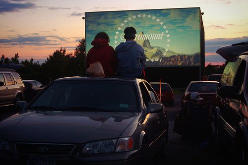 I'm not sure why drive-in movies went away. They were a whole other movie experience.