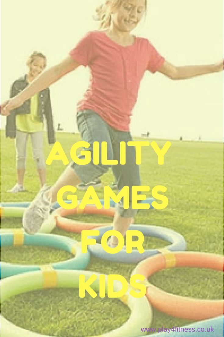 Fun fitness games for kids to improve agility.  Physical education games.