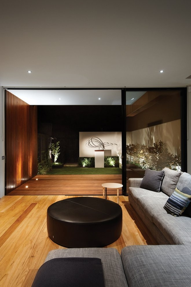 Love the clean wooden look, once again combing inside and outside. Project - Nicholson Residence - Middle Park, Victoria, Australia - Matt Gibson A+D, Architizer