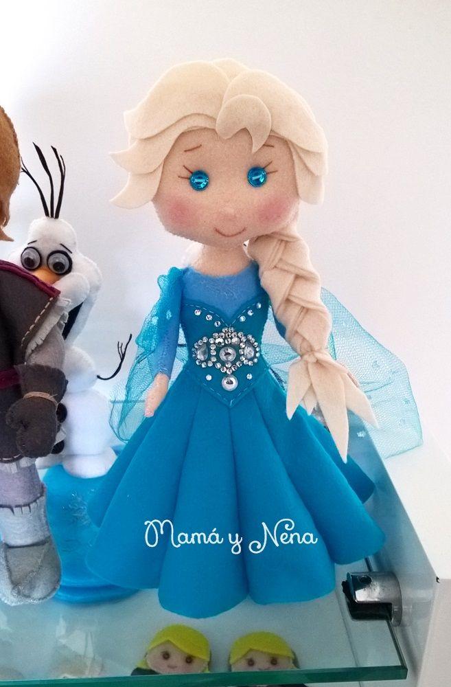 Elsa Frozen em Feltro para decoração de Festas