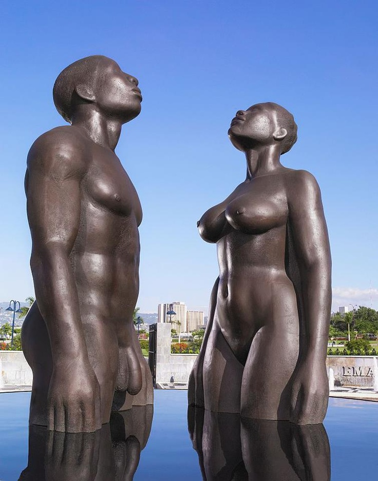 """This statute known as 'Redemption Song' is located at   Emancipation Park in Kingston, Jamaica, which was constructed in July 2002. Jamaican artist, Laura Facey Cooper"