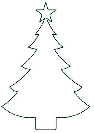 елка для вырезания из бумаги на окна трафарет