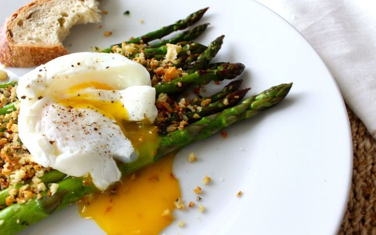 Roasted Asparagus with Poached Egg | Poached Eggs, Asparagus and Eggs ...
