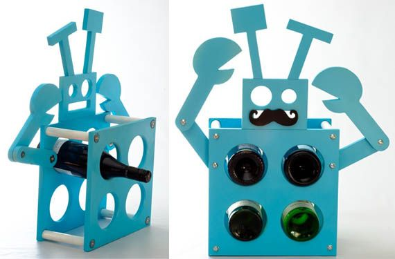 Who wouldn't like to have a Robot Wine Rack?!