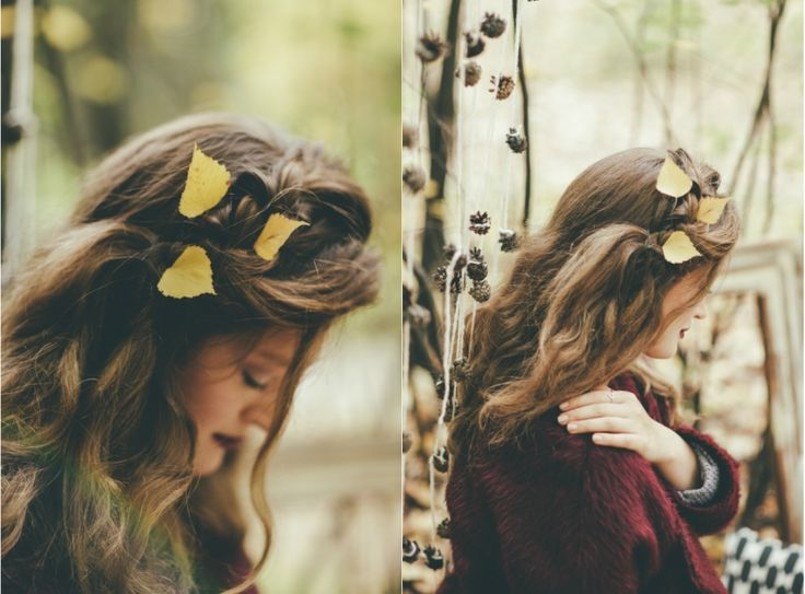 Feel cozy. Autumn, picnic, girl, inspiration, beauty, wood, forest, hair, leaves