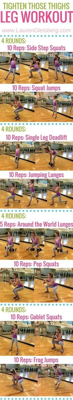 TIGHT THIGHS & BUTT LEG WORKOUT   click for more workouts to tighten and sculpt