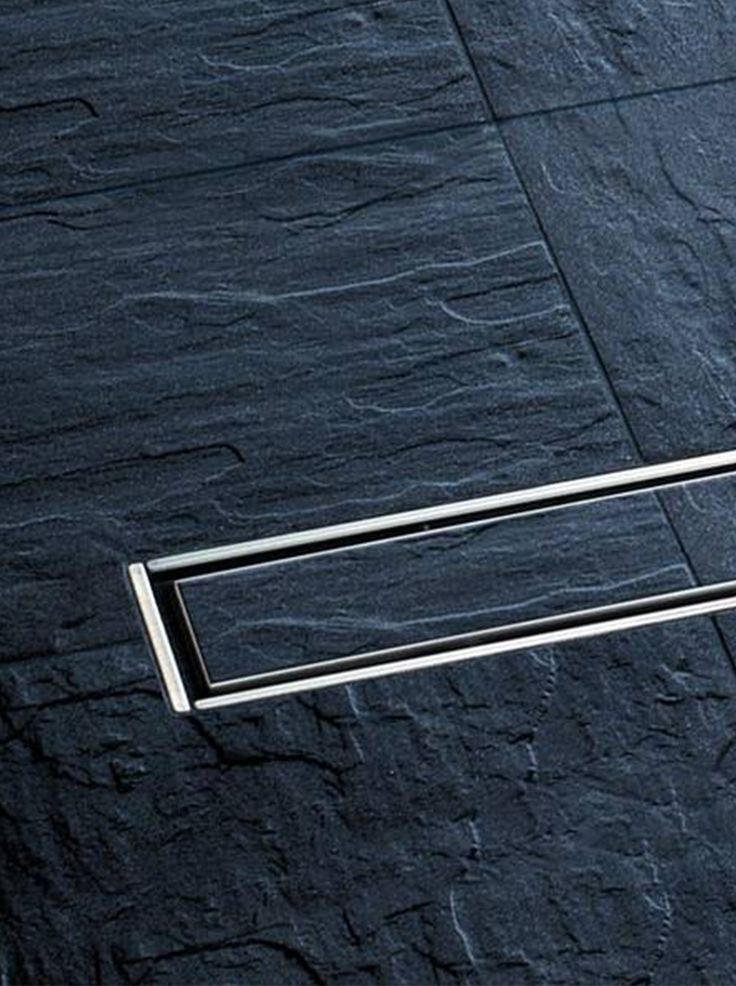 Linear invisible shower drain by Kessel, Linearis Stainless Steel _