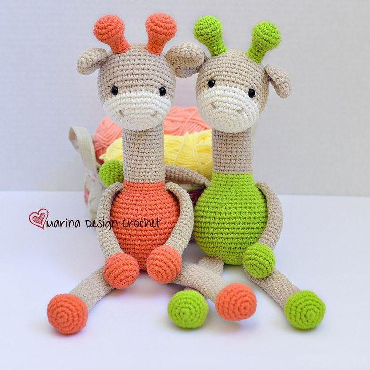 Жирафы амигуруми