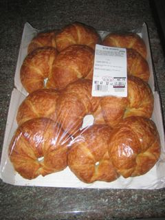Costco croissants for breakfast or club sandwiches with ham/turkey with mozzarella cheese.  they taste way better than alberstons or safeways and are bigger.