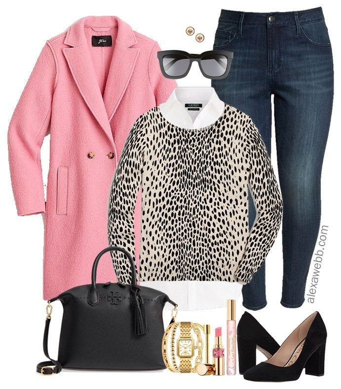 Plus Size Pink Coat Outfit
