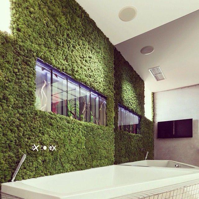 #green #design #interior #дизайн #дизайнер #дизайнстудия #квартира #природа#instagood #instalike #instadaily #зеленое Ближе к природе. Порой очень устаешь от города, его шума, ритма и бетона, и хочется привнести в интерьер квартиры природное, зеленое, растущее. Прекрасным решением для ванной стала зеленая стена. Обращайтесь к нам, и мы воплотим Ваши мечты о лучшем интерьере (812) 956-17-87