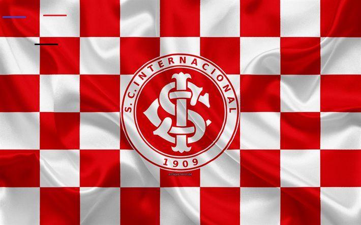 Download Wallpapers Internacional 4k Logo Creative Art Red White Checkered Flag Brazilian Football Club Serie A In 2020 Checkered Flag Creative Art Sports Clubs