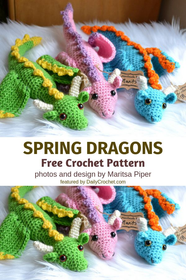 [Paid Pattern] Graceful Crochet Dragon Free Pattern To Bring Fantasy And Legend To Life