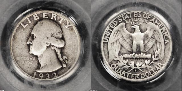 How to Grade Washington Silver Quarters – What Grade Is My Washington Quarter?: Fine-12 (F12 or F-12)