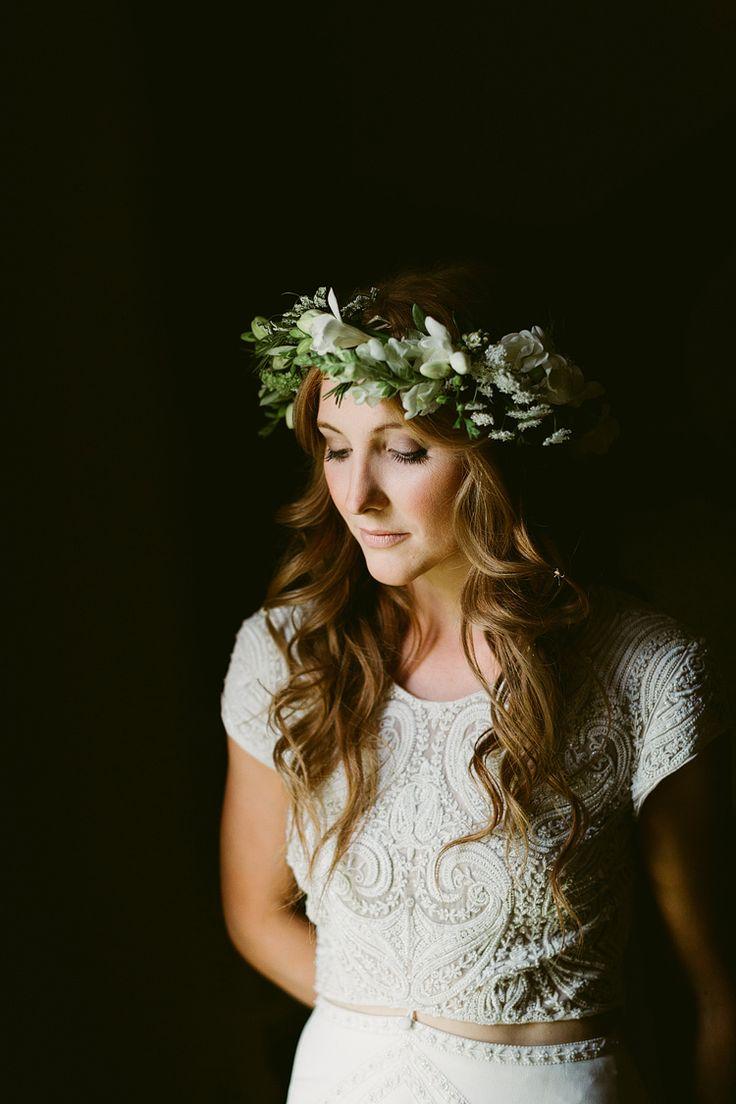 723 best flower crowns images on pinterest floral crowns flower bohemian outdoor blessing garden wedding flower crown izmirmasajfo Images
