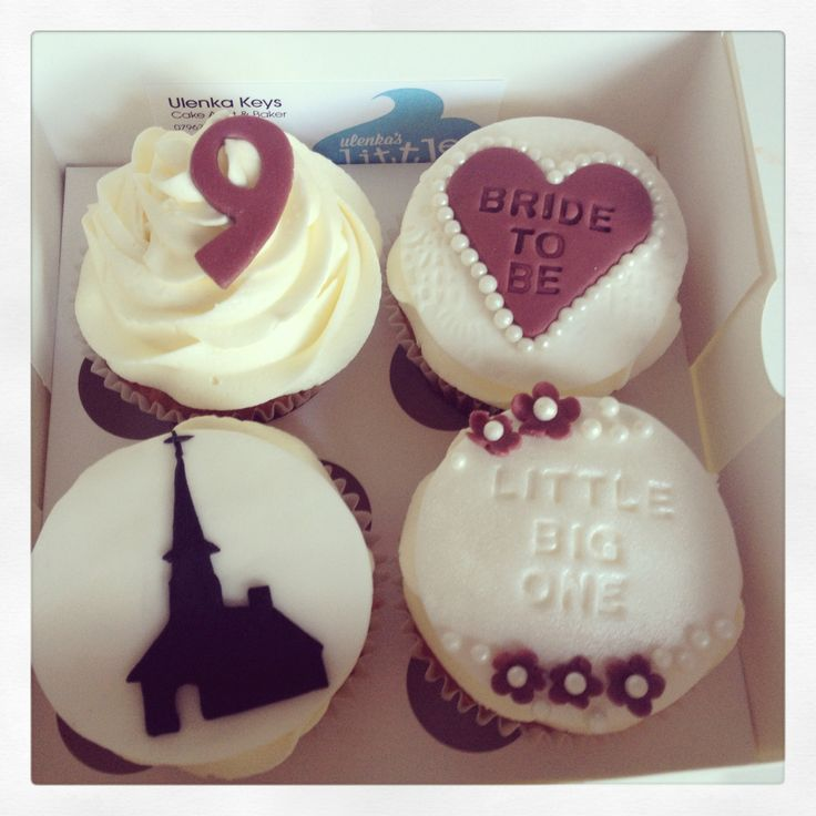 Cupcakes to celebrate my customer's daughter's forthcoming wedding
