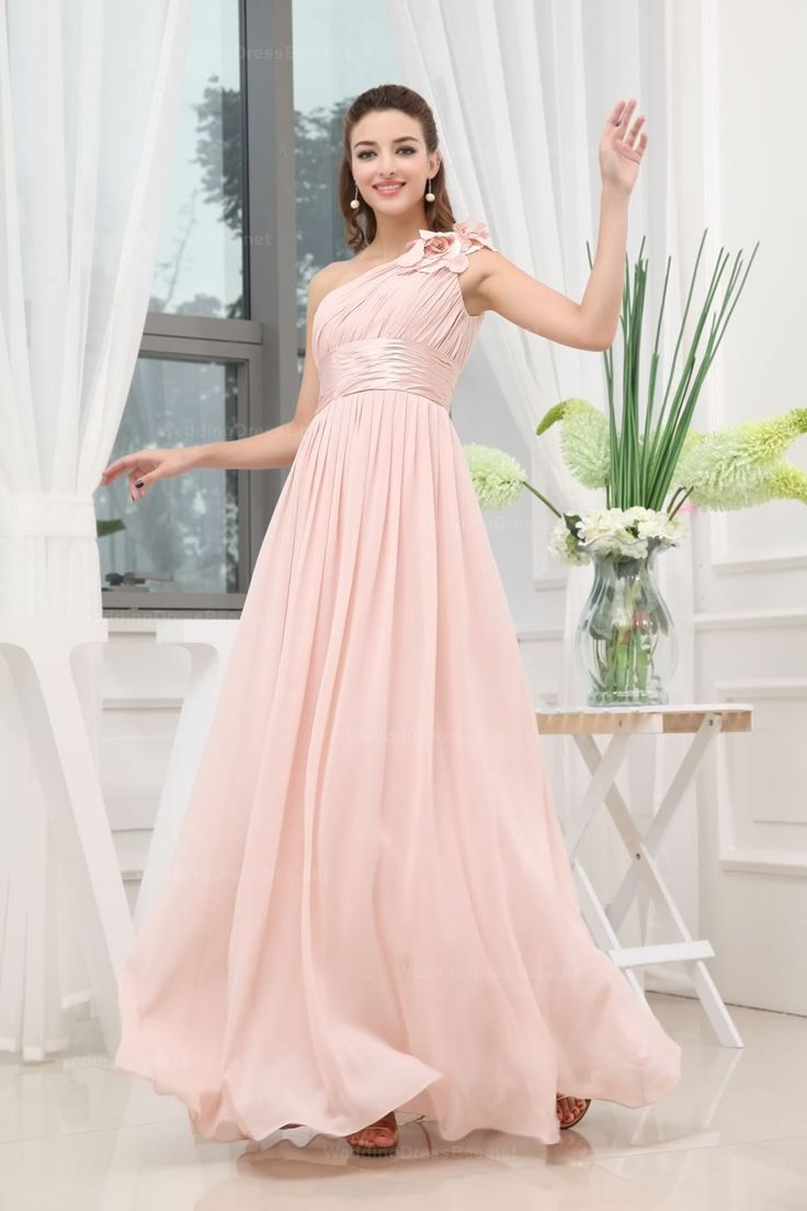 659 best wedding dressesbridesmaid dresses etc images on flowy hand made one shoulder empire waist full a line chiffon floor length dress ombrellifo Image collections