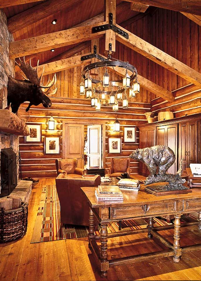 426 best images about log homes on pinterest for Log cabin chandelier