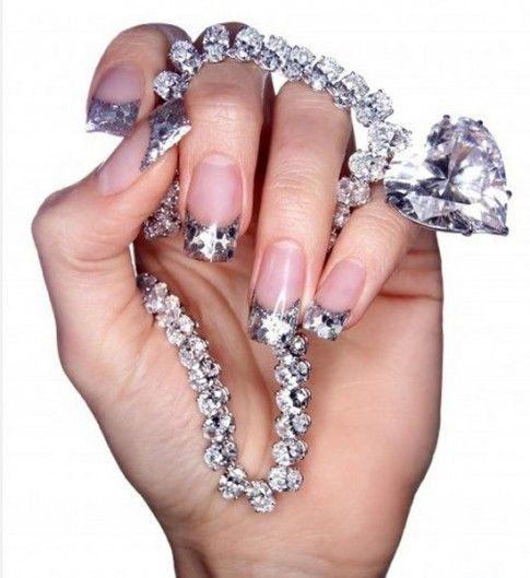 1000+ Ideas About Rhinestone Nail Designs On Pinterest