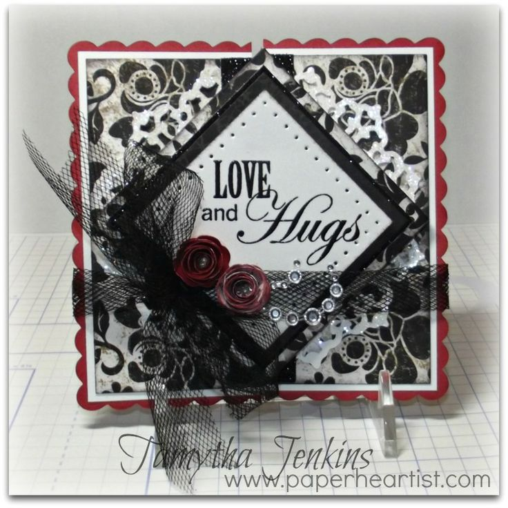 Diamond Fold Card using Close To My Heart (CTMH) products.  Created by Tamytha Jenkins of www.paperheartist.com