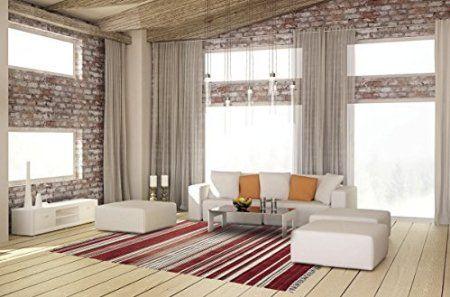 Tappeto sala, salotto, camera da letto - multiuso 160x230 rosso Kilim originale, tessuto a telaio a mano, lana Nuova-Zelanda. Listino 220 €uro ..in offerta !