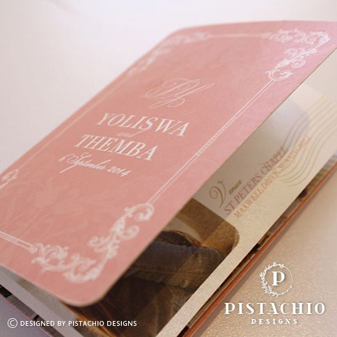 Coral passport wedding invitations by www.pistachiodesigns.co.za