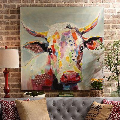 Betsy Cow Canvas Art Print   Kirklands