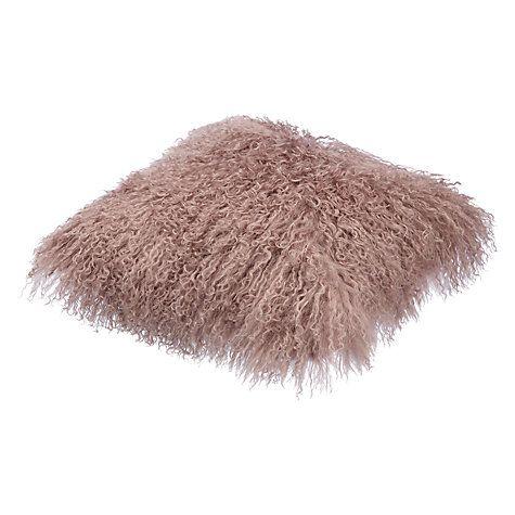 Buy John Lewis Mongolian Fur Cushion Online at johnlewis.com