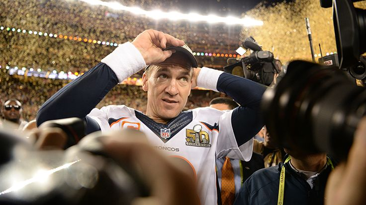 The Broncos' Peyton Manning walks onto the field after the team won Super Bowl 50 against the Carolina Panthers. Manning said he wanted to drink a Budweiser after the game. (AAron Ontiveroz, The Denver Post)