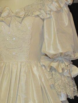 Princess Diana wedding dress close up