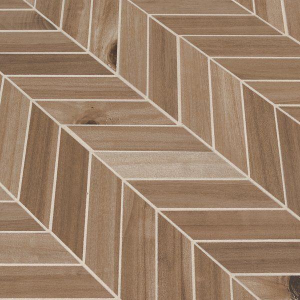 Havenwood Random Sized Porcelain Wood Look Mosaic Tile