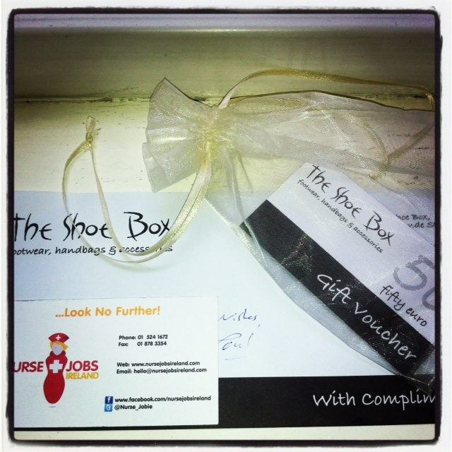 Thanks to The Shoebox KIlkenny our Proud Partner of our Nurse Jobs Ireland event Celebrate Nurses our Everyday Hero's for 2013! For more information see https://twitter.com/ShoeBoxKilkenny