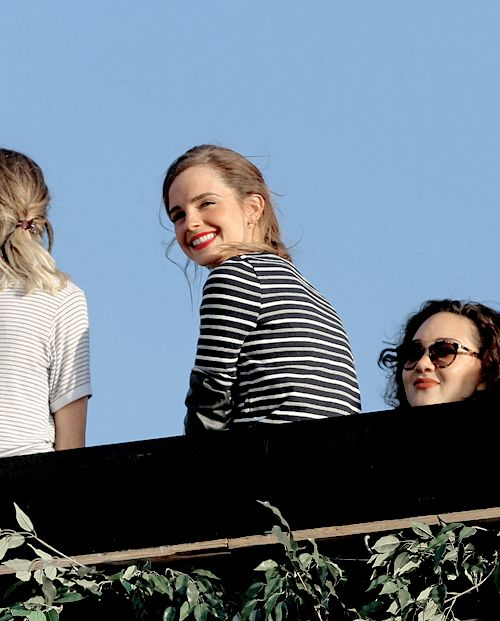 Emma Watson attends the Taylor Swift's concert in Hyde Park, London.