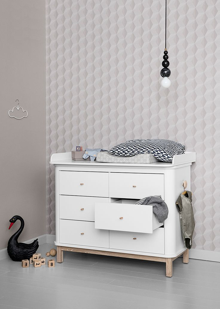 Good Wood Collection nursery dresser with drawers by Oliver Furniture
