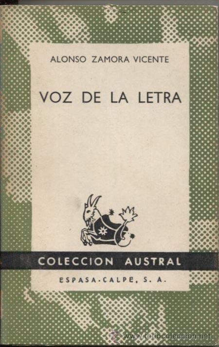 "100 ANOS DO NACEMENTO DE ALONSO ZAMORA VICENTE.  ""Voz de la letra"". SIGNATURA: T6-129 http://kmelot.biblioteca.udc.es/record=b1129667~S1*gag"