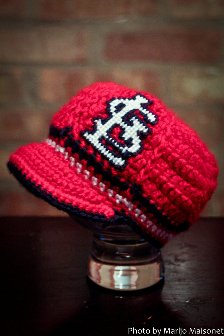 49 best valentine crochet images on pinterest board books and st louis cardinals inspired crocheted baseball cap newborn children size made bankloansurffo Gallery