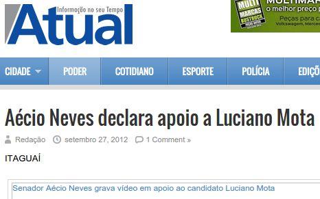Outro helicóptero apreendido, de prefeito tucano chegado a Aécio.   Os Amigos do Presidente Lula