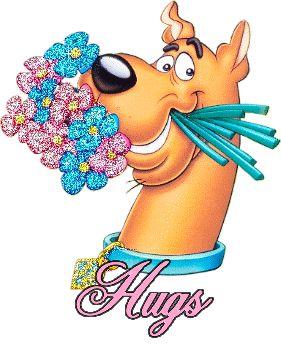 Glitter Flowers With Hugs