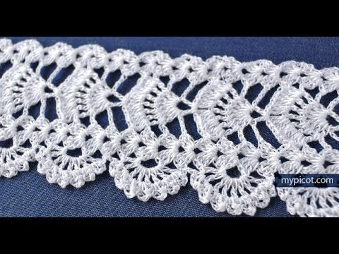 How to crochet the edges of the steps - YouTube