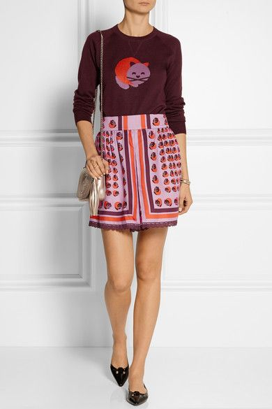 Sweater by James Coviello x Anna Sui and Skirt by Anna Sui