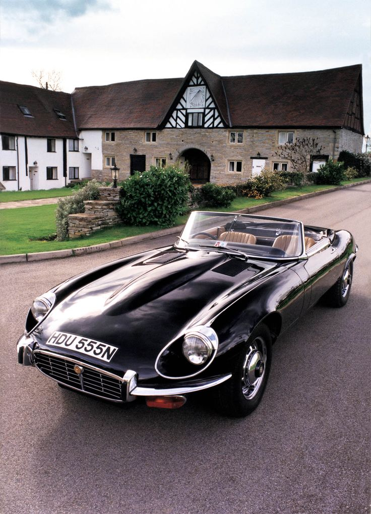 1961 Jaguar E-Type, a vintage beauty.