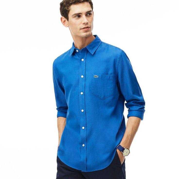 LACOSTE Men'S Regular Fit Cotton Piqué Shirt - Sapphire Blue/Thermal Blu. #lacoste #cloth #all