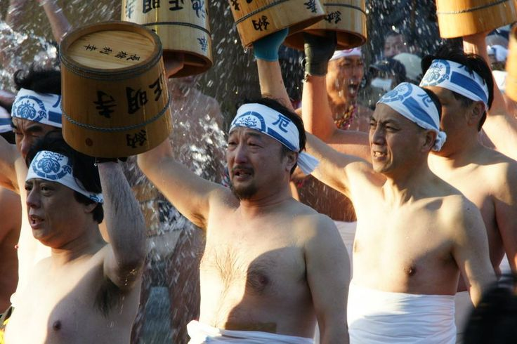 "A Hadaka Matsuri (裸祭り ""Naked Festival"") is a type of Japanese festival, in which participants wear a minimum amount of clothing. Naked festivals are held in dozens of places throughout Japan every year, usually in the summer or winter. The most famous festival is the Saidai-ji Eyo Hadaka Matsuri held at Saidaiji Temple in Okayama, where the festival originated. Every year, over 9,000 men participate in this festival in hopes of gaining luck for the entire year."