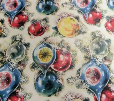 Vintage Christmas Gift Wrap Wrapping Paper Unused NOS (10/13/2011)
