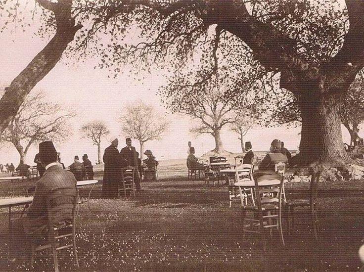 A Coffee Garden in Kadıköy, Istanbul, 1911 (Fenerbahçe Burnunda Kahve Bahçesi)